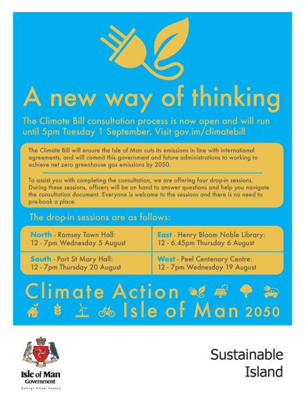 Climate Consultation Drop In at PSM Town Hall Thurs. 20th August 12 - 7. All welcome