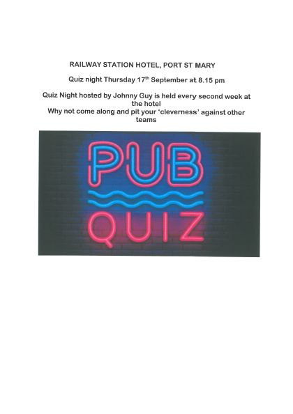 Quiz Night at the Station 17th September