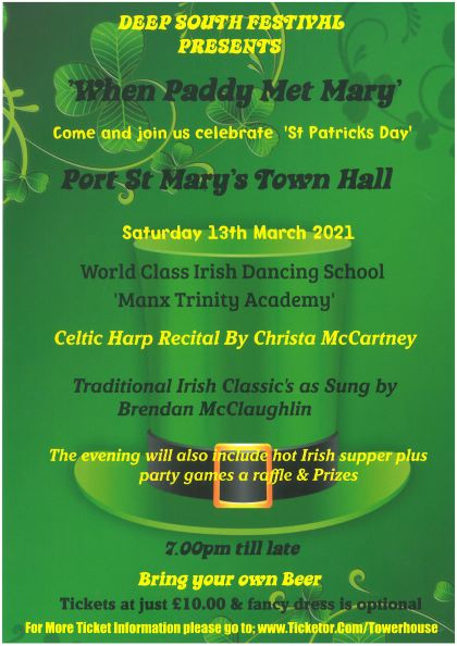 Sat 13th March 'Celebrate St Patricks Day' in traditional style