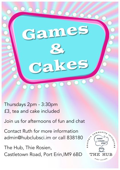 Games and Cakes – what's not to like!