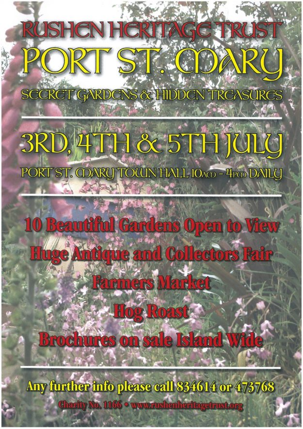 Secret Gardens of Port St Mary 3rd, 4th and 5th July
